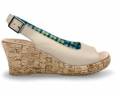 Crocs™ Women's A-Leigh Wedge Leather | Comfortable Women's Cork Wedge Sandal | Crocs Official Site