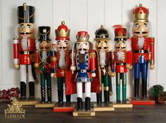 Vintage German Wooden Nutcracker Soldier Christmas Decorations Choice OF 8 | eBay