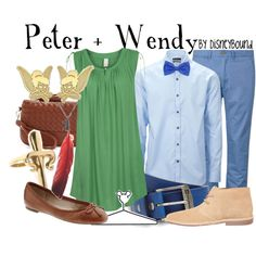 """""""Peter + Wendy"""" by lalakay on Polyvore. I like how the genders are reversed in this."""