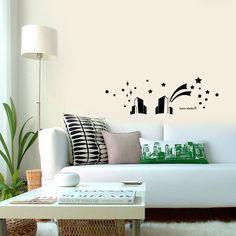 wallsticker Tower city Wallpaper interior Design