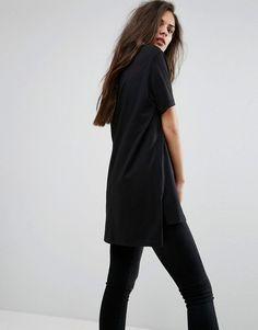 Versace Jeans Tiger Face Logo Boyfriend T-Shirt - Black