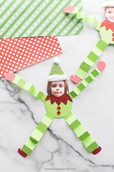 Paper Elf Craft - such a cute elf craft for Christmas!