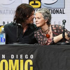 Actor Norman Reedus speaks onstage at ComicCon International 2017 AMC's 'The Walking Dead' panel at San Diego Convention Center on July 21 2017 in. The Walking Dead, Walking Dead Season 8, Walking Dead Series, Daryl And Carol, Dead King, Walker Stalker, Melissa Mcbride, Netflix, Carl Grimes