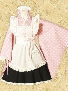 Pink White Polka Dot Wa Cosplay Lolita Dress on www.ueelly.com