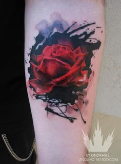 Aquarell Rosen Tattoo