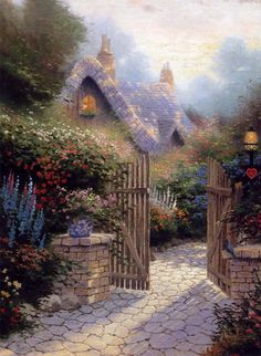 Thomas Kinkade - The Hidden Cottage II