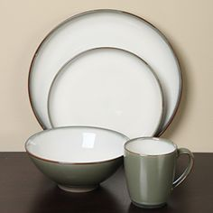@Overstock - Give your dinner table a rustic look with stoneware dishesAvocado 16-piece dinnerware set from Sango's Concepts line provides service for fourPlates, bowls and mugs decorated with green and cream glazeshttp://www.overstock.com/Home-Garden/Sango-Concepts-Avocado-16-piece-Dinnerware-Set/3545385/product.html?CID=214117 $53.09