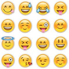 Happy Smiley Emojis ❤ liked on Polyvore featuring emoji, fillers, other, backgrounds, random, quotes, text, doodles, effect and saying