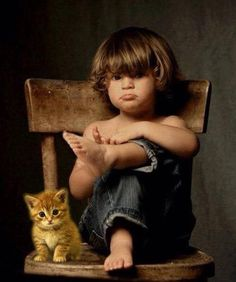 enfant chat