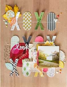 #papercrafting #scrapbook #layout idea: love fall by gracielou at @studio_calico