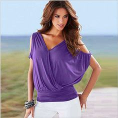 f153dc4890206f Aliexpress.com   Buy Sexy Loose Top for Women V Neck Top Femme Chemisier  Summer Clothes from Reliable clothes blouse suppliers on sexemaras Store