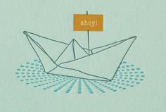 AHOY Origami boat, tattoo??
