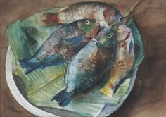Vicente Silva Manansala (January 1910 - August was a Philippine cubist painter and illustrator. Manansala was born in. Watercolor Fish, Watercolor Trees, Watercolor Landscape, New Artists, Great Artists, Filipino Art, Philippine Art, Still Life Fruit, Magazine Art