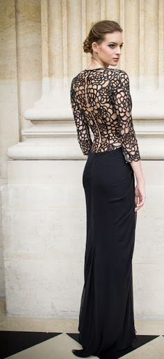 Zuhair Murad Spring 2013  Black Dress #2dayslook #sunayildirim #BlackDress www.2dayslook.com