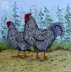 Chickens Painting at ArtistRising.com