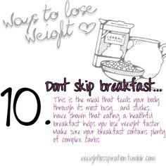 Dont skip breakfast*