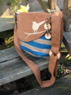 Beach Bird shoulder bag with adjustable strap key by LBArtworks, $59.00