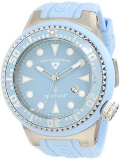 Swiss Legend Men's 21818D-012 Neptune Light Blue Dial Light Blue Silicone Watch - 82% Discount - Daily Deals Catalog