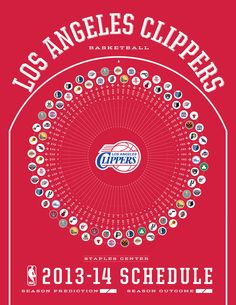 Los Angeles Clippers 2013-14 Schedule