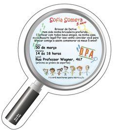 convite detetive - Pesquisa Google