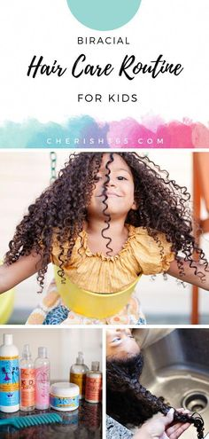 Embrace your child's beautiful, natural curls with this step by step tutorial for biracial hair care. A consistent hair care routine can make a world of difference when dealing with natural, curly and Biracial Hair Care, Curly Hair Care, Long Curly Hair, Curly Hair Styles, Frizzy Hair, Deep Curly, Afro Hair, Curly Girl, Natural Curls
