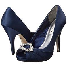 Nina Elvira High Heels ($99) ❤ liked on Polyvore featuring shoes, pumps, nina shoes, metallic pumps, slip on shoes, metallic shoes and platform shoes