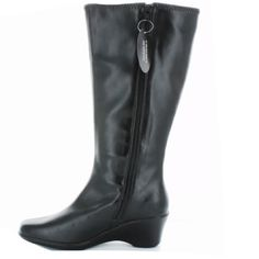 """NEW $70 KAREN SCOTT Wedge Leather Boots Sz 6.5 BRAND NEW IN BOX!   RETAIL:  $69.99    KAREN SCOTT VENICE WEDGE PLATFORM BOOTS         SIZE: 6.5      COLOR: Black      These sylish & comfy boots feature a square toe, tall - knee height, 2.5"""" wedge heel, synthetic leather material and side zipper closure.    Shaft Height: appx 13"""" (from heel)                      KAREN SCOTT VENICE BOOTS                       🚫NO PRICE NEGOTIATIONS THRU COMMENTS                                🚫""""LOWEST?""""‼️…"""