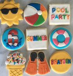 Summer Pool Party Sugar Cookie Collection by NotBettyCookies