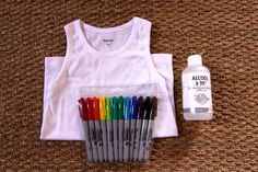 Sharpie-dye t-shirts.
