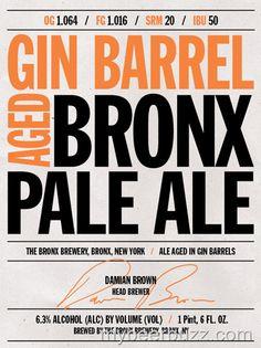 mybeerbuzz.com - Bringing Good Beers & Good People Together...: Bronx Brewery - Gin Barrel Aged Bronx Pale Ale