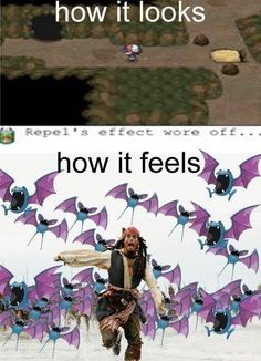 Caves in Pokemon. ugh. so true.