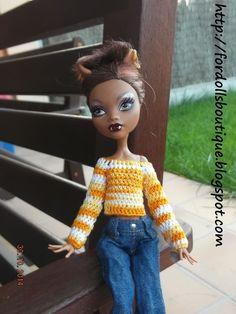 Ropa para Monster High: jersey J63 de My Monster High boutique por DaWanda.com