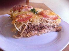 Das perfekte Spaghettitorte italienischer herzhafter Schichtkuchen-Rezept mit Bild und einfacher Schritt-für-Schritt-Anleitung: Die Spaghetti 5 Minuten…