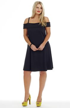 Off the shoulder skater dress plus size