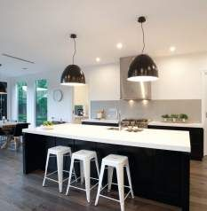 like the black pendants. nice kitchen, perhaps a bit heavy doing black joinery  25 finlayson street malvern
