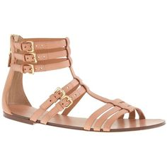 J.Crew T-strap gladiator sandals (635 BRL) ❤ liked on Polyvore featuring shoes, sandals, flats, sapatos, zapatos, j crew flats, ankle strap shoes, ankle strap flats, j.crew sandals and t-strap flats