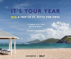 Win a trip to St. Kitts! Enter now: http://r29.co/1kdnwY7