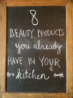 8 Beauty  Products you already have in your Kitchen! #DIY #natural #Howto #Beauty - Bellashoot.com