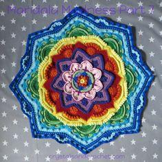 Pt 7 Mandala Madness CAL 2016 by Crystals and Crochet aka Helen Shrimpton. PDF Photo Tutorial here http://www.crystalsandcrochet.com/mandala-madness-part-7/