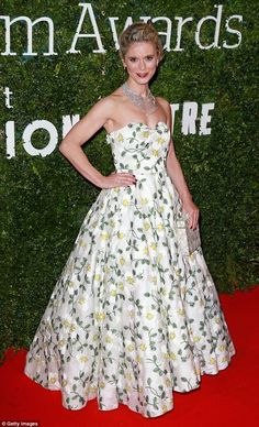 Blooming lovely! Emilia Fox was the picture of elegance on Sunday at Evening Standard Brit...