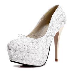 $41.99 Korea Kvoll Lace Platform Pumps Shoes