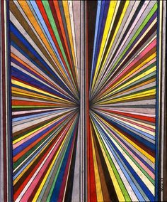 Mark Grotjahn Untitled (Butterfly Rainbow 151),2003 Colored pencil on…