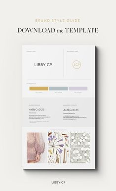 [DOWNLOAD] Free Brand Style Guide Template. Click here.