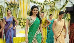 Samantha in designer half saree