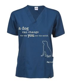 A beautiful message printed for the Veterinarian fashionista! Share your love for Dog wearing this scrub top! This classic cut scrub top is made for both men and women in the Vet World! Both breathable & comfortable cool!