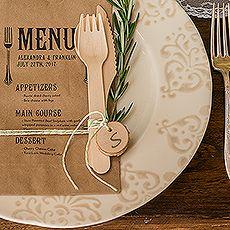 Rustic Wedding Table Setting  #RusticWeddingInspiration #RusticWeddingIdeas