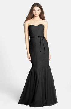 Monique Lhuillier Bridesmaids Tulle Trumpet Dress | Nordstrom