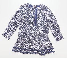 Chiffon-Kleid HEART in dunkelblau mit Herzen