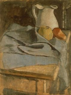 Untitled (still life with pitcher), Oil by Mark Rothko (Marcus Rothkowitz) (1903-1970, Latvia)