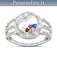 A Mother Holds Her Child's Heart Personalized Ring